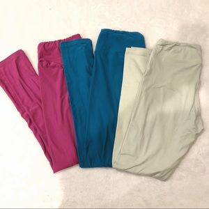 LuLaRoe | Leggings Solid Bundle OS